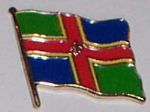 Lincolnshire County Flag Enamel Pin Badge
